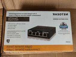 NETGEAR 5-Port Gigabit Ethernet Switch - Metal Case NEW  GS3