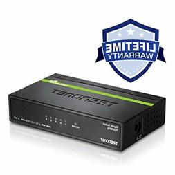 TRENDnet 5-Port Unmanaged Gigabit GREENnet Desktop Metal Swi