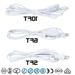5FT 6FT 10FT T5 T8 Integrated LED Tube Light Power Cords 3Pi