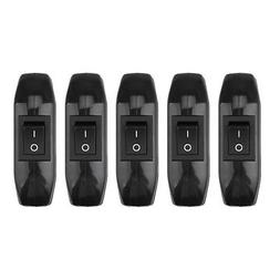 5pcs/pack In-line Cord Rocker Switch 3-Core Cable for ON/OFF