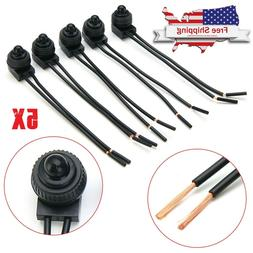 """5Pcs  Waterproof Push-Button Latching On-Off Switch with 4"""""""