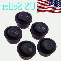 5x rocker switches 12v round toggle on
