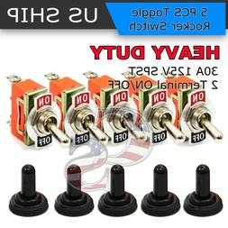 5X Toggle SWITCH ON/OFF Heavy Duty 30A 125V SPDT 2 Terminal