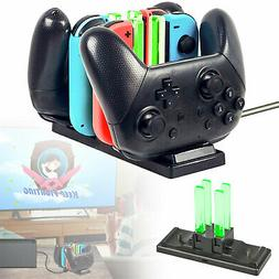 6 in 1 Controller Charger Charging Dock Station for Nintendo