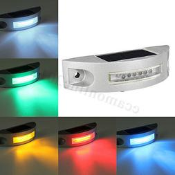 6 LED Solar Power Waterproof  Auto Outdoor Wall Light Drivew