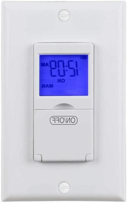 Century 7 Day Programmable Timer Switch, Single or 3 Way, bl