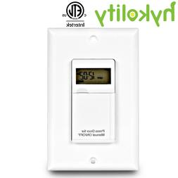 Hykolity 7 Days Digital In-Wall Programmable Electrical Time