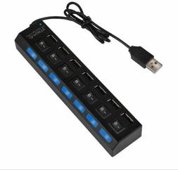 7 Port USB 3.0 HUB High Speed Extension Adapter with ON/OFF