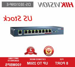 Hikvision 8ch PoE Switch DS-3E0109P-E Unmanaged 9 Ports 1Upl