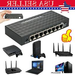 8Port Gigabit Ethernet 10/100/1000Mbps Switch Lan Hub Adapte