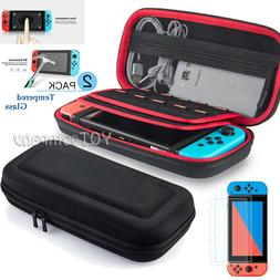 Accessories Case Bag for Nintendo Switch +2 Pack Tempered Gl