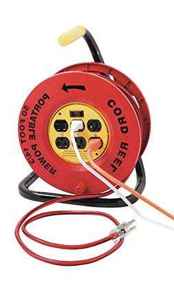 Designers Edge E-235 Power Stations 14/3-Gauge Cord Reel wit