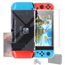 Dockable Case Compatible with Nintendo Switch,FYOUNG Protect