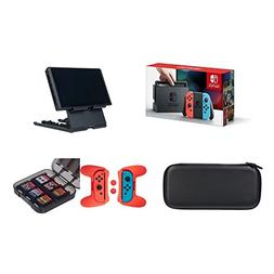 Nintendo Switch - Neon Blue and Red Joy-Con with AmazonBasic