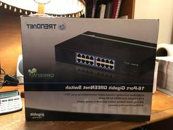TRENDnet 16-Port Unmanaged Gigabit GREENnet Desktop Metal Ho