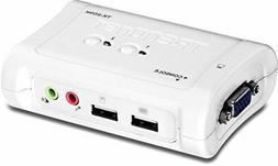 TRENDnet 2-Port USB KVM Switch and Cable Kit with Audio, TK-