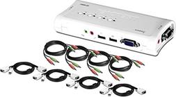 TRENDnet - 4-port USB KVM Switch Kit w/Au