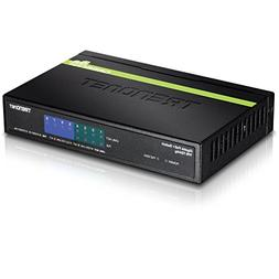 TRENDnet 8-Port Gigabit PoE+ Switch, 4 x Gigabit PoE/PoE+ Po