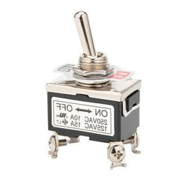 AC 125V/15A 250V/10A ON-OFF 2 Position 2 Terminals Latching