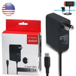 AC Adapter Power Wall Charger For Nintendo Switch Travel US