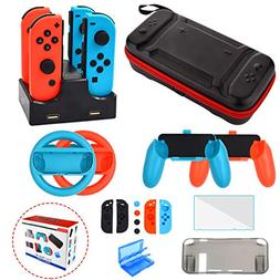 Accessories Kit for Nintendo Switch Games Starter Wheel Grip