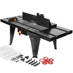 "Aluminum Router Table Benchtop 34""x13"" Deluxe w/ On/off Swit"