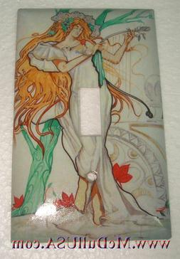 Artist Lady with Tree Light Switch Duplex Outlet Wall Cover