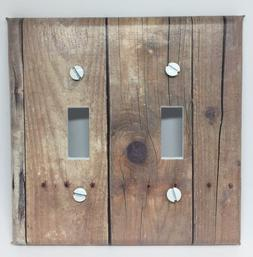 Barnwood Planks Light Switch Cover Plates Rustic Wood Lookin