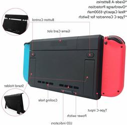 Battery Extended External Charger Case 6500mAh For Nintendo