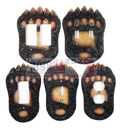 Bear Switch Plate Covers Claw Paw Cabin Lodge Decor Outlet R