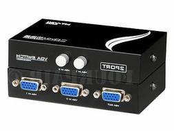 2x1 or 1x2 Bi-Directional 2 Port VGA SVGA HD15 Video Switch
