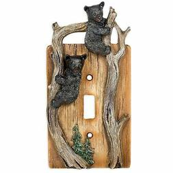Brand New Bears on Tree Limb Electrical Resin Switch Plate C