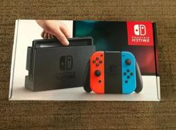 Brand New! Nintendo Switch 32GB Gray Console with Neon Red a