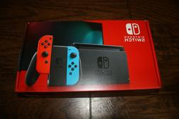 Brand New Nintendo Switch 32GB Gray Console with Neon Red an