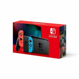 BRAND NEW Nintendo Switch Console with Neon Red Neon Blue Jo