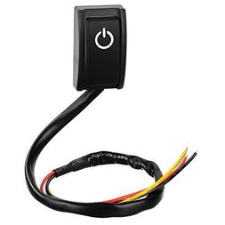 Jtron Car DIY Switch Paste Type Button Switch OFF/ON DC 12V/