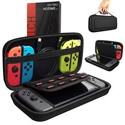 Orzly Carry Case Compatible With Nintendo Switch - BLACK Pro