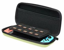 carrying case for nintendo switch neon yellow
