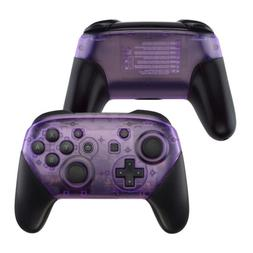 Clear Purple Faceplate & Buttom Shell Case for Nintendo Swit