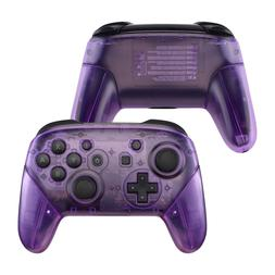Clear Purple Upper & Back Shell Handle Grips for Nintendo Sw