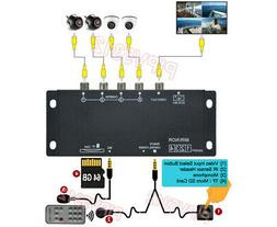 Compact 4-Channel Composite Video Recorder Switcher For In-C