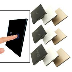Crystal LED Light Smart Touch Screen Switch Glass Panel 1/2/
