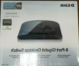 D-Link DGS-1008G 8-Port Gigabit Desktop NEW sealed Switch w