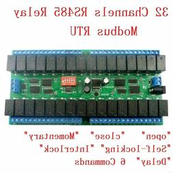 DC 12V 10A 32ch Modbus RTU RS485 Relay Switch Board UART PLC