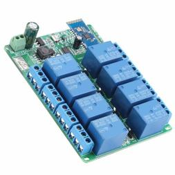 DC 12v 8 Channel Relay Module Wireless Bluetooth Control Swi