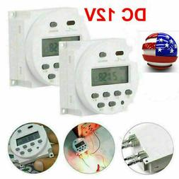 DC 12V Timer Switch ON/OFF Weekly Programmable LCD Digital L