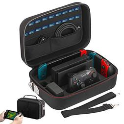Vikena Deluxe Travel and Storage Case for Nintendo Switch,Ga