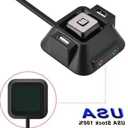 Desktop PC Case Switch Power on/off Button with Dual USB Por