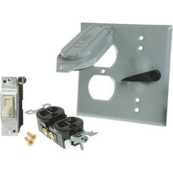 Do it Best 511439 Outlet & Switch Cover, Gray, Outdoor Use