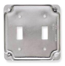 Electrical Box Cover,Toggle Switch,2Gang RACO 803C